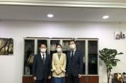 홍주의 회장, 강선우 의원 면담