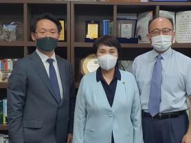 홍주의 회장, 정춘숙 의원과 간담회 개최