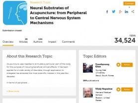 프런티어스 저널, '침 치료 신경과학적 기전 연구' 특별호 출간