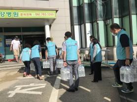 건보공단, 강원 철원군 일대 침수피해지역 긴급지원
