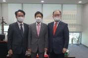 홍주의 회장, 이용호 국회의원 면담