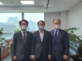 홍주의 회장, 김성주 국회의원 면담