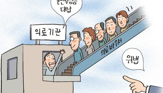 의료바우처카드 소지자 대상 본인부담금 대납은 '환자유인행위'