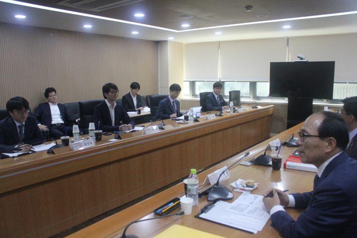 지난달 31일 한의협 수가협상단이 건보공단과 수가협상을 진행하고 있다.
