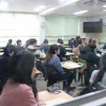 19일 서울 광진구 자양동 자양중학교에서 수험생들이 제73회 한의사국가시험을 치르기 위해 대기하고 있다.