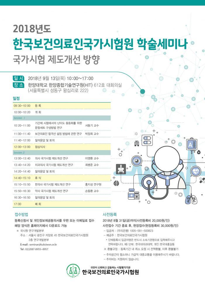 국시원, 의료인 국가시험 제도개선 세미나 개최