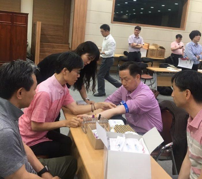 성남시한의사회, 한의협과 회원 대상 혈액검사 교육 실시