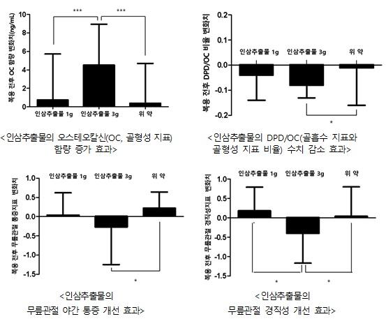 인삼의 골대사 개선 효과 '입증'